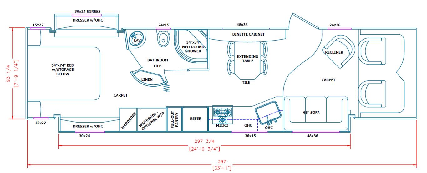 Floor Plans For 160 000 Of World Class Rv Desert Diamond